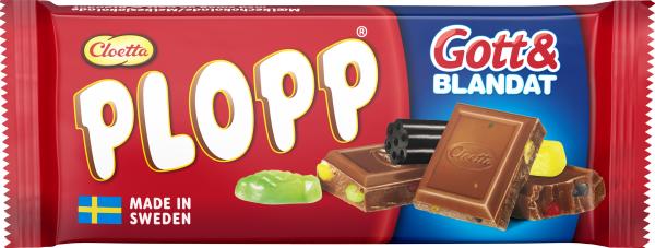 Plopp Gott & Blandat mjölkchokladkaka